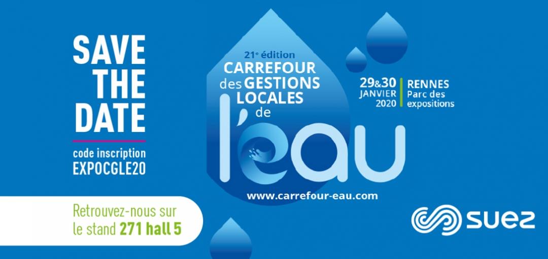 Retrouvez-nous à la 21e édition du Carrefour des Gestions Locales de l'Eau à Rennes